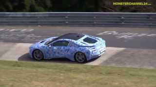 bmw i8 hybrid prototype testing on the nrburgring sexy 3 cylinder sound