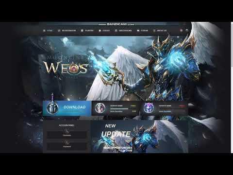 Mu Online WeoS Website HTML Template