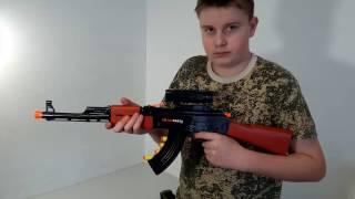 Игрушечный автомат АК-47 с мягкими патронами