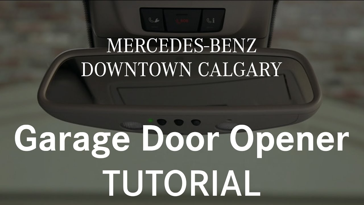 How To Program And Use Your Garage Door Opener Mercedes