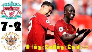Liverpool vs Blackpool 7-2 Highlights All Goals 5.09.2020