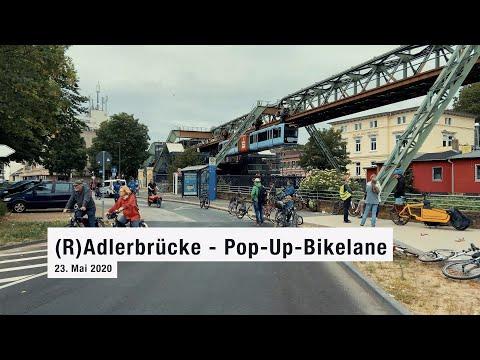 (R)Adlerbrücke - Pop Up Bikelane Wuppertal