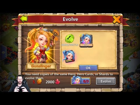 JT's Free 2 Play Double Evolving GunSlinger + Nick Castle Clash