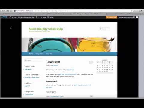 Blogging in the Classroom (Quick tutorial of Edublogs)