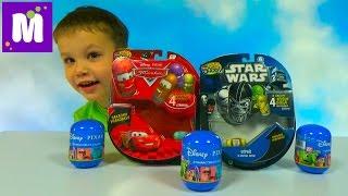 Крутые Бобы Звёздные Войны и Тачки Дисней игрушки гонки по треку