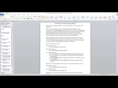 Proofreading assignments