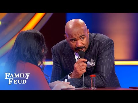 Oh lord! Steve Harvey PRAYS this is on the board! | Family Feud
