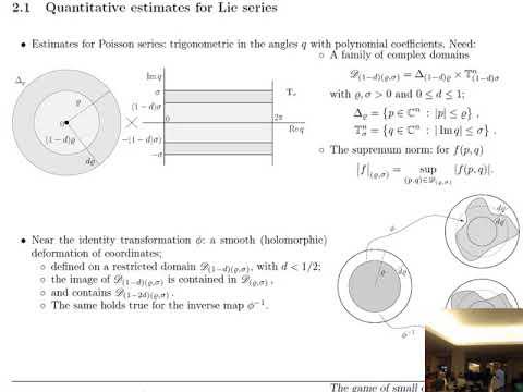 Antonio Giorgilli: Perturbation methods in Celestial Mechanics - 2