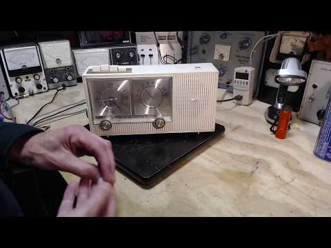 Admiral 69N22-1 AM Clock Radio Checkout and Repair