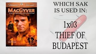 MacGyver - Qué navaja usa en El ladrón de Budapest? Which sak is used in 003 ?