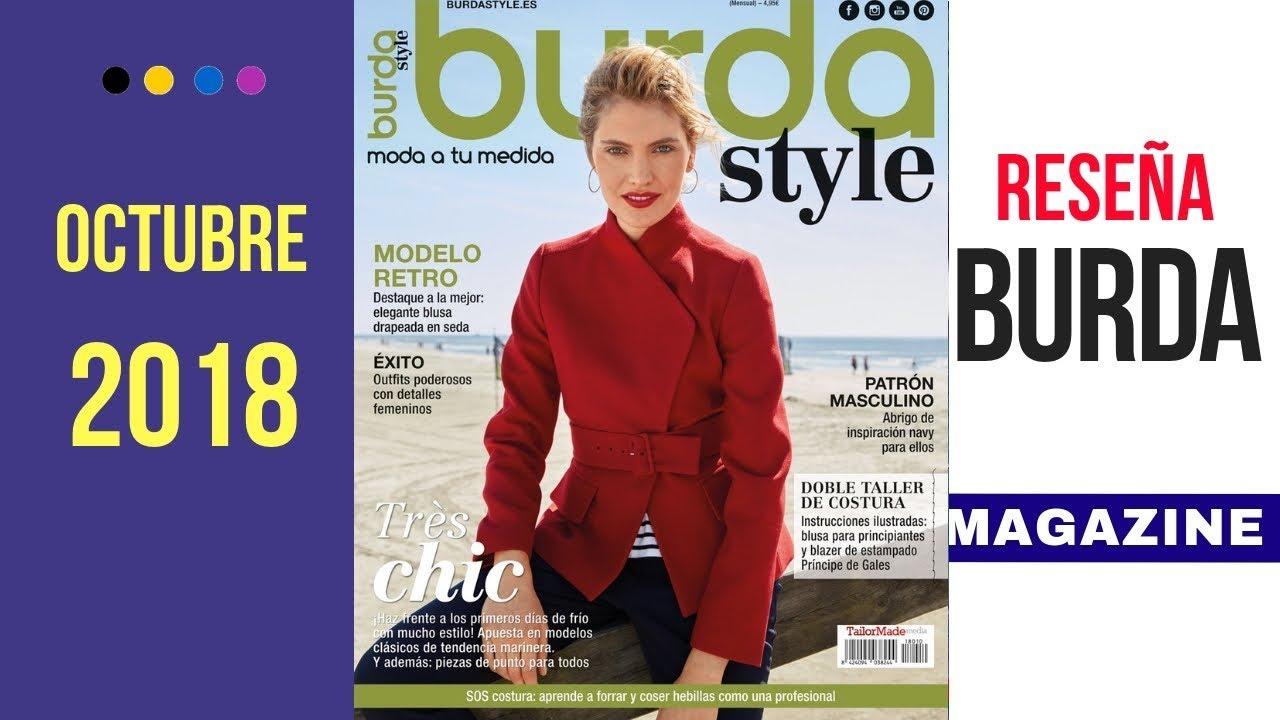Reseña revista Burda Style Octubre 2018 con Dibujos Técnicos - YouTube 0e393cbb5f94