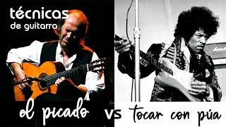 PICADO VS TOCAR CON PÚA l técnicas de MANO DERECHA (II)