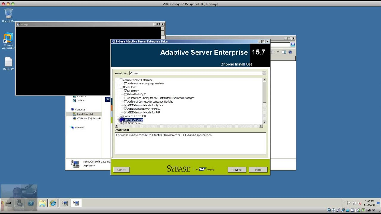 SYBASE 15.7 JDBC TREIBER WINDOWS 10