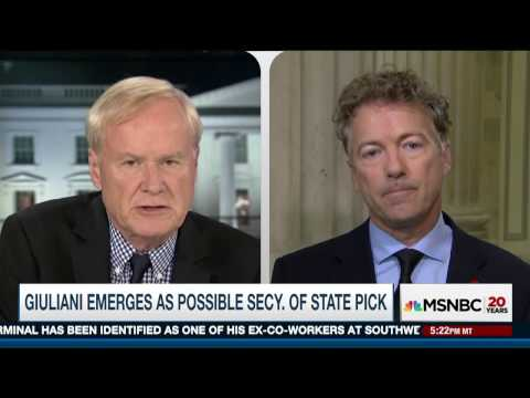 Sen. Rand Paul: Secretary of State should be a realist