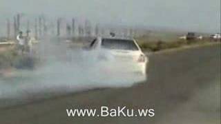 Mercedes E63 AMG  burnout and spin gtgb