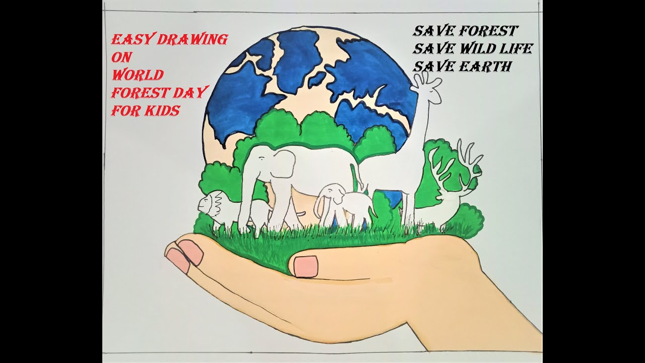 Easy Save Forest Save Wild Life Drawing Save Trees Save Earth Poster Stop Deforestation Poster Youtube