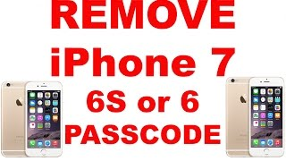 How To Remove Password From iPhone 6S 6 5S 5C 5 4S 4 3G 3GS or any iPod Touch or iPad