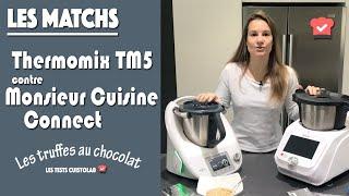 Match Thermomix TM5 contre le Monsieur Cuisine Connect pour la réalisation de truffes en chocolat
