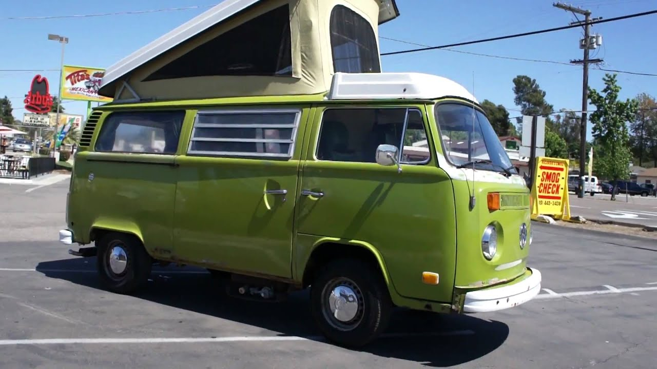 1977 Vw Volkswagon Westfalia Camper Bus Rv For Sale Youtube