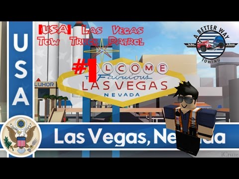 Roblox [USA] Las Vegas Tow Truck Patrol Day 1 - Police Pull me Over
