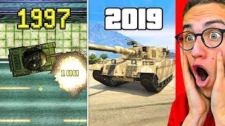 Reacting To THE EVOLUTION OF GTA! 1997 - 2019