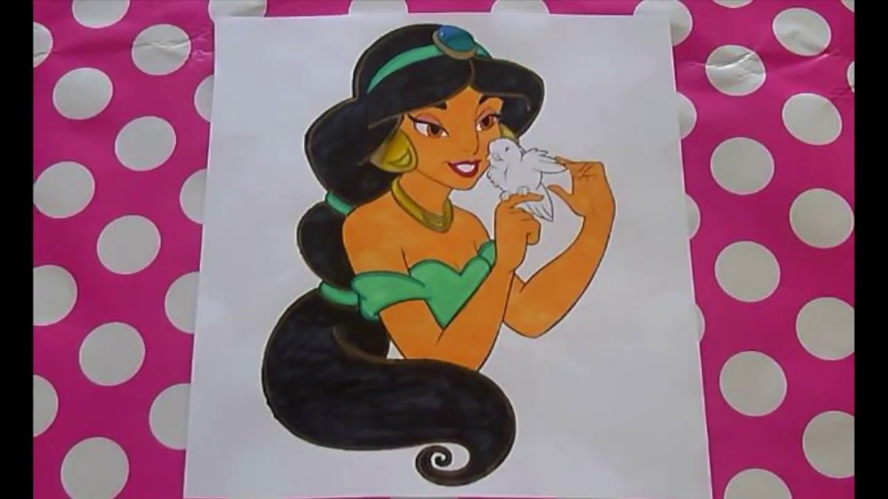 Disneys Princess Jasmine From Aladdin Coloring By ColorCraze Book Pages Fun