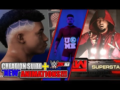 WWE 2K18 - Creation Suite + New ANIMATIONS!!! & FREE CAM!