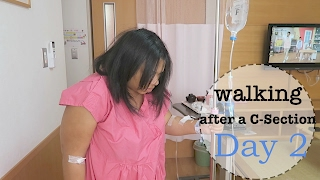 Walking after a C-Section! Day 2 Recovery Vlog