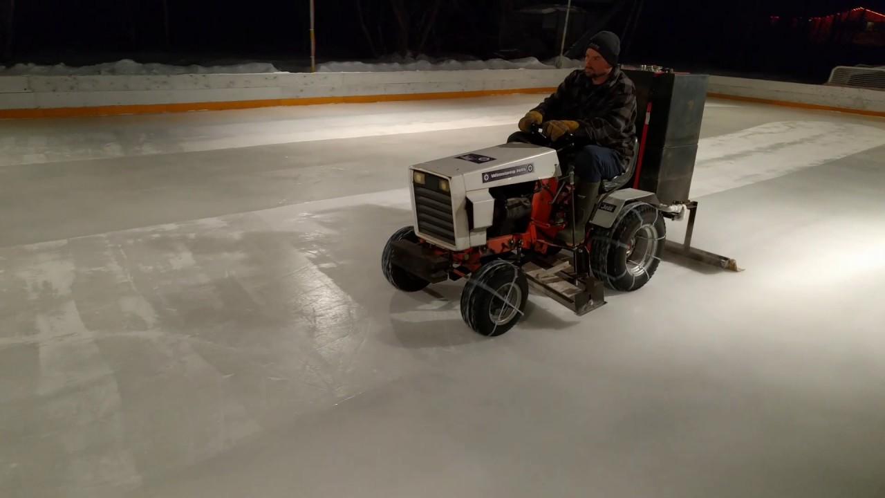 homemade ice resurfacer zamboni youtube