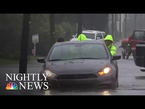 Sheets Of Rain Pound Charleston As Hurricane Dorian Hits South Carolina | NBC Nightly News