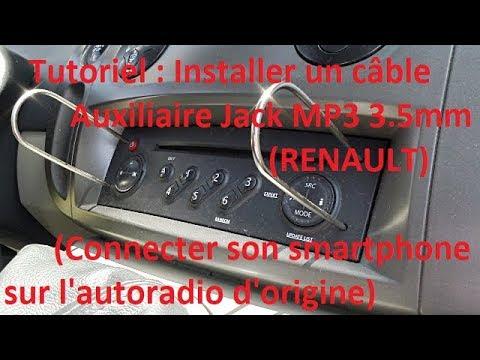 Comment installer Un Câble Auxiliaire Jack MP3 3.5mm Renault ?