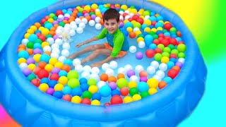 Ball Pit Party Song for Kids, Clean Up Toys Rhymes