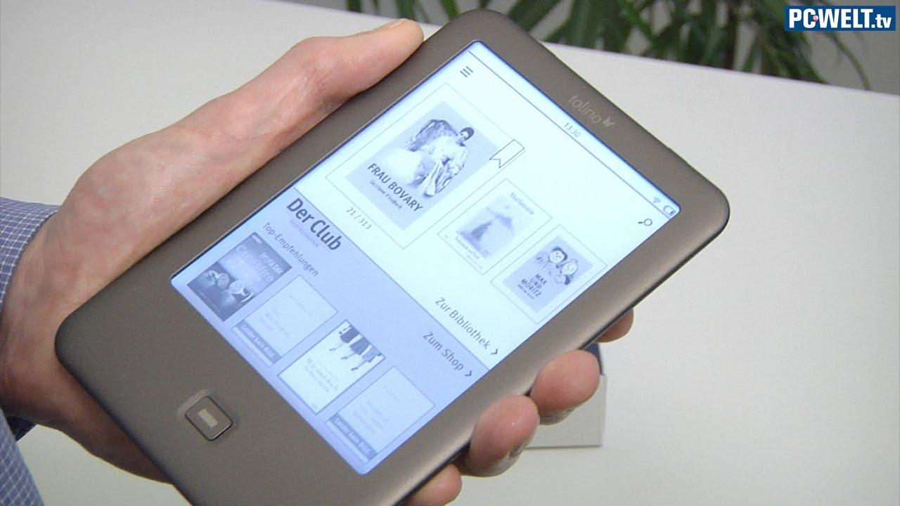 kindle alternative ebook reader tolino shine im pc welt. Black Bedroom Furniture Sets. Home Design Ideas