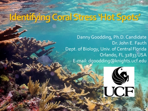 """Identifying Coral Stress 'Hot Spots'"" - John Fauth & Danny Goodding"