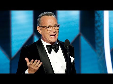 Tom Hanks TEARS UP During Cecil B. DeMille Speech | Golden Globes