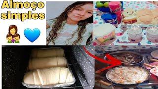 Fiz almoço |Pão Caseiro |tempero caseiro|Vidas de Casada Mamãe Estudante.