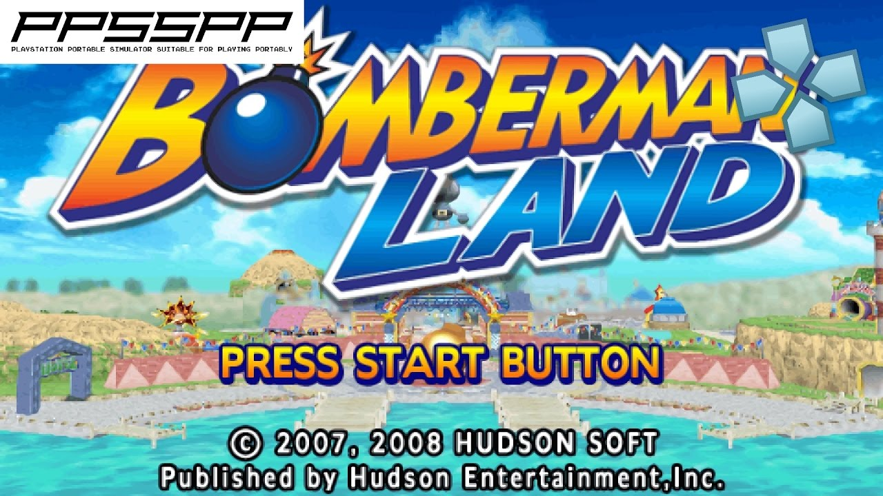 Bomberman land psp gameplay (ppsspp) 1080p youtube.