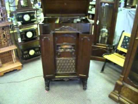 RCA Victor RE 57 Radio Electrola 1929  YouTube