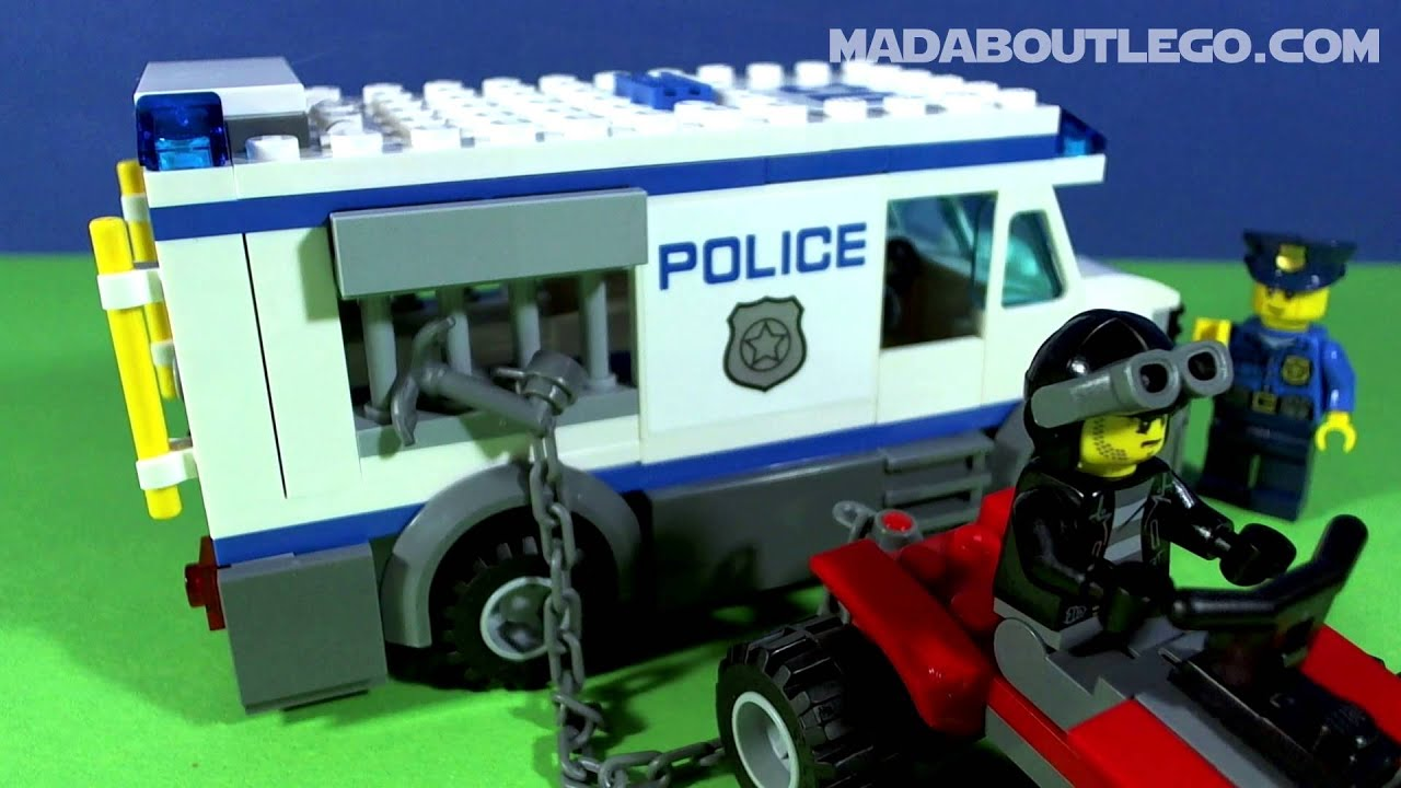 LEGO CITY PRISONER TRANSPORT 60043 - YouTube