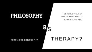 Philosophy as Therapy?