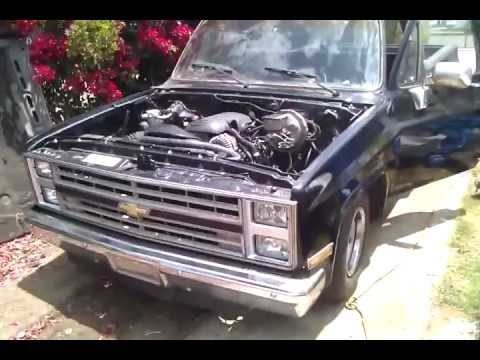 CHEVY C10 SHORTBED 5.3l lm7 vortec swap/conversion - YouTube
