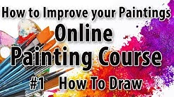 # 1 how to improve your paintings online painting course  how to draw Hindi