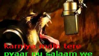 Tere Bin Chain Nahi Aunda Karaoke With Lyrics
