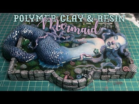 Polymer Clay & Resin Mermaid Sculpture Process