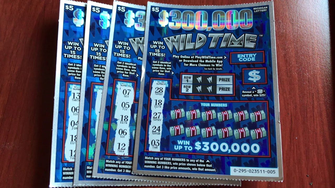 New $5 $300,000 Wild Time - Michigan Lottery - 6/8/19