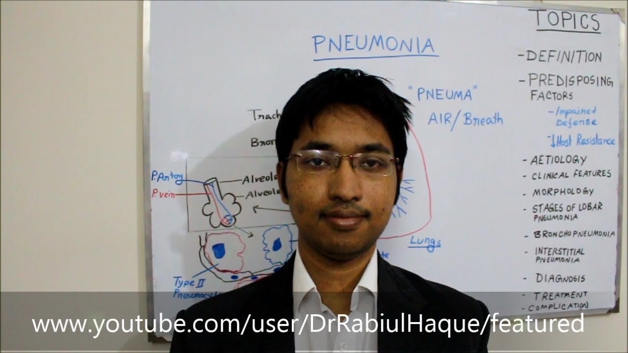 pneumonia : definition, causes, clinical features, morphology, Human Body