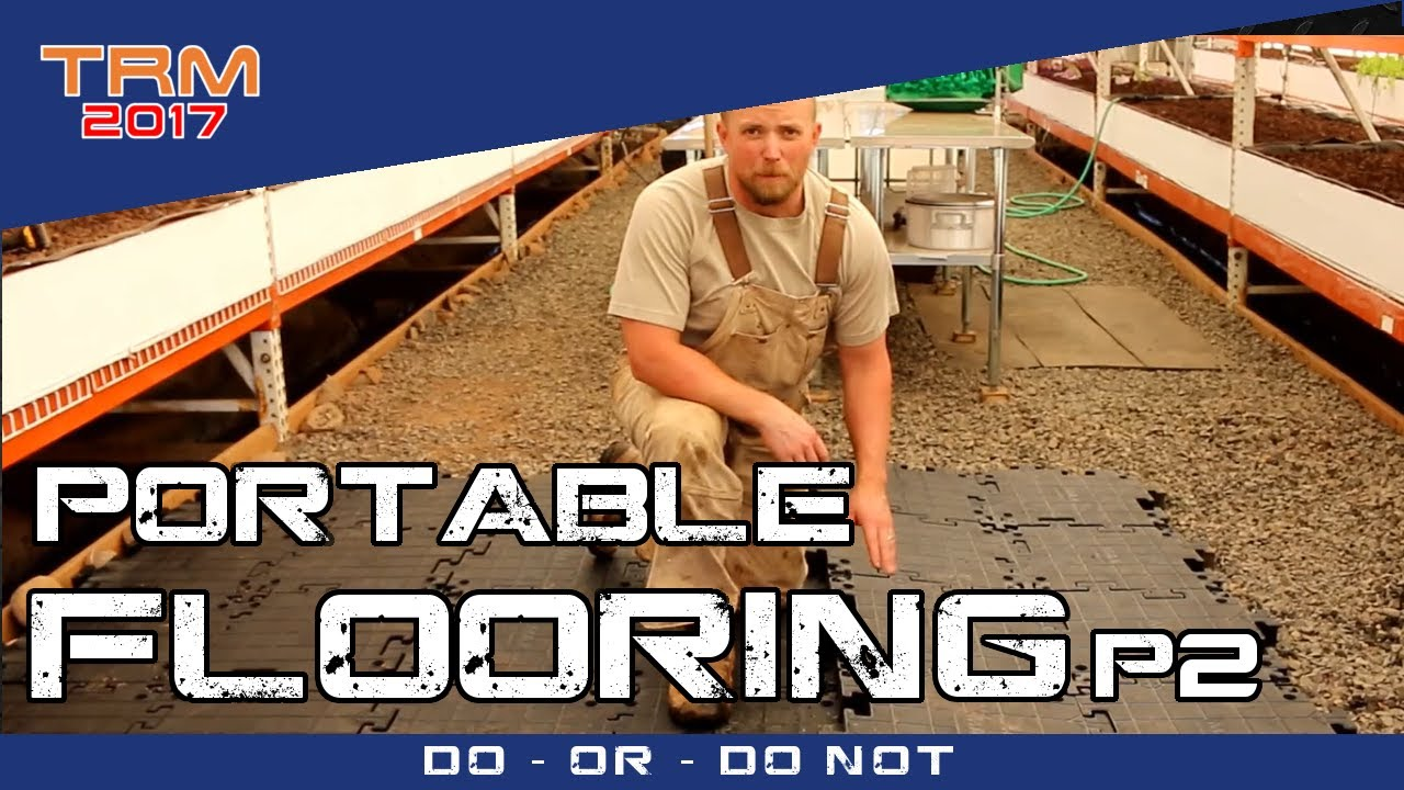 Flooring a Greenhouse with PORTAFLOOR MAX  Part 2  YouTube