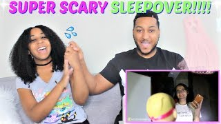 "Shane Dawson ""SCARIEST SLEEPOVER GAMES"" REACTION!!!"