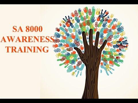 SA 8000   Social Accountability   Social Accountability 8000   SA 8000 Awareness training