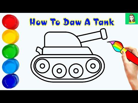 Cách vẽ xe tăng đơn giản nhất | How to draw a tank | TA Art